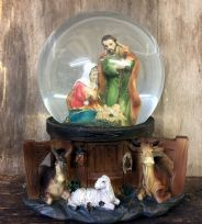 Silent Night Large Musical Christmas Nativity Holy Family Snow Globe